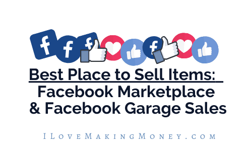 Best place to sell items is facebook marketplace and facebook garage sales.