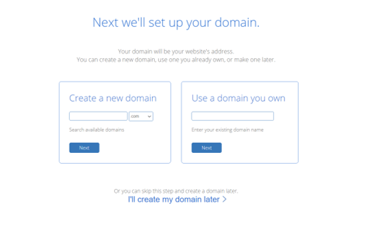 Setup your domain name with Bluehost to connect your blog