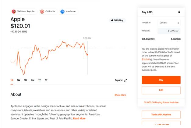 How to Buy Stocks inside Robinhood