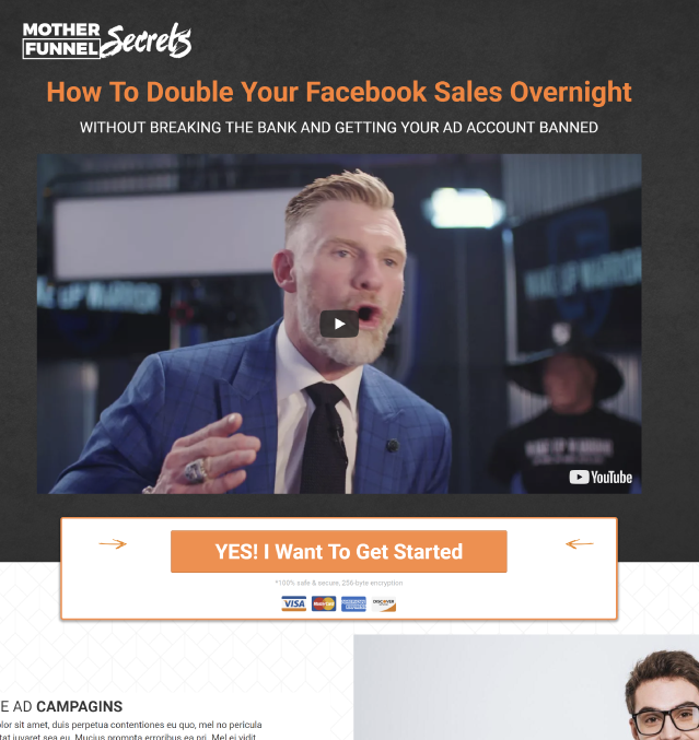 ClickFunnels Template Example for Sales Letter Funnels