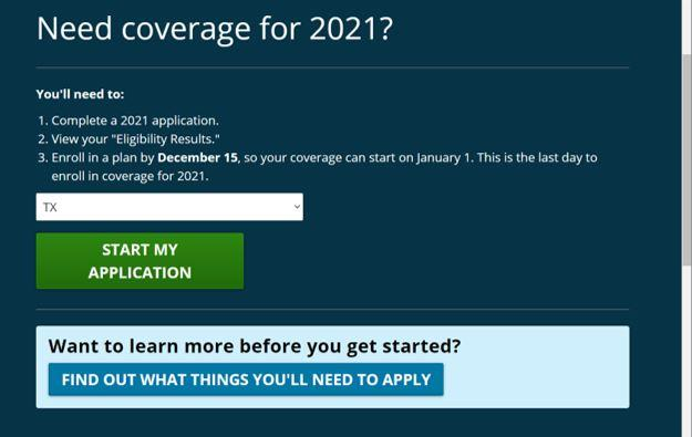 How to Start Your Application for Healthcare Coverage