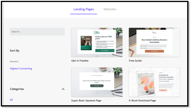 Leadpages Landing Page Templates for Websites