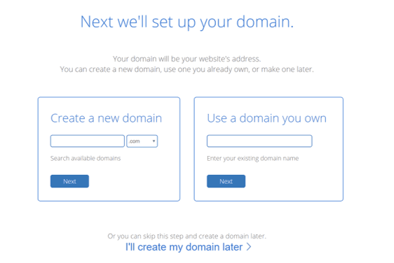 Pick a domain name for your blog