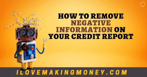 remove negative information on credit report