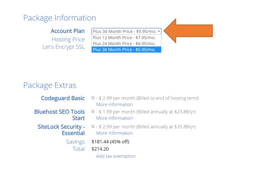 Blog Hosting Pricing