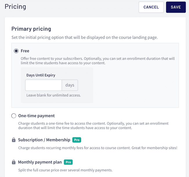 Thinkific Pricing for Your Course