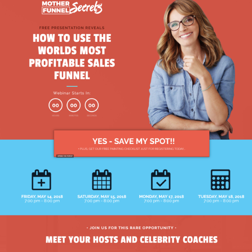 Webinar Funnel Example and Template