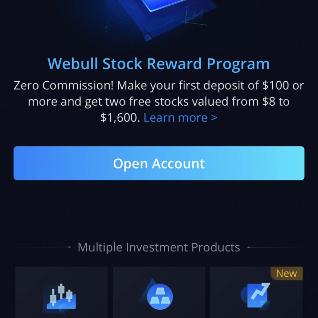 Webull App - Rewards Program
